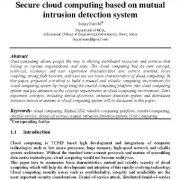رایانش ابری امن بر اساس سیستم تشخیص نفوذ متقابل