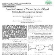 بررسی مسائل امنیتی در سطوح مختلف پارادایم رایانش ابری: یک مقاله مروری