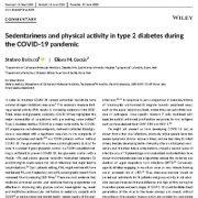 بی تحرکی و فعالیت  بدنی در دیابت نوع ۲ در طی کوید-۱۹