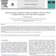 بررسی  طراحی زلزله ای  پی و فونداسیون پل های اتوبان  با تاثیر آبگونه سازی