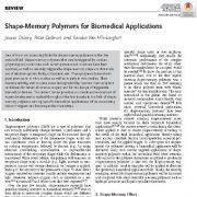 "<span itemprop=""name"">کاربردهای پلیمرهای حافظه شکلی در زیست پزشکی</span>"