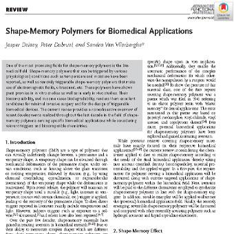 کاربردهای پلیمرهای حافظه شکلی در زیست پزشکی