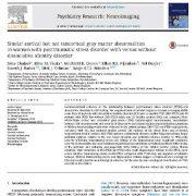 ناهنجاریهای ماده خاکستری قشری مشابه در زنان با اختلال استرس بعد از حادثه