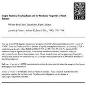 قواعد تکنیکی و ساده تجارت و مشخصات احتمالی نرخ بازده سهام