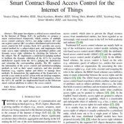 کنترل دسترسی مبتنی بر قرارداد هوشمند برای اینترنت اشیاء