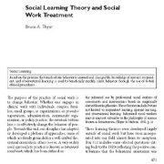 نظریه یادگیری اجتماعی و درمان مددکاری اجتماعی