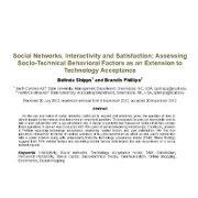 شبکههای اجتماعی، تعامل پذیری و رضایت: ارزیابی عوامل رفتاری