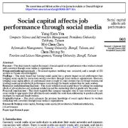 "<span itemprop=""name"">سرمایه اجتماعی از طریق رسانه های اجتماعی بر عملکرد شغلی تأثیر می گذارد</span>"