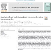 دادههای شبکههای اجتماعی -کاهش کولد استارت در سیستم توصیه گر