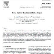 فناوری های آب شیرین کن حرارت خورشیدی
