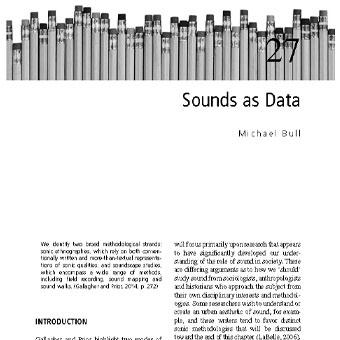 صدا (اصوات) به عنوان داده