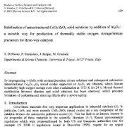 تثبیت محلولهای جامد CeO2-ZrO2 با ساختار نانو با افزایش AL2O3