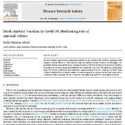 واکنش بازارهای سهام به کوید-۱۹(کروناویروس): تعدیل کننده نقش فرهنگ ملی