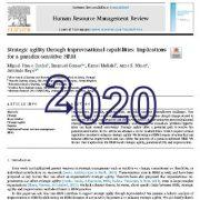 چابکی استراتژیک از طریق ظرفیت های ابتکار: مدیریت منابع انسانی