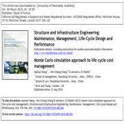 روش شبیه سازی مونت کارلو برای مدیریت هزینه ی چرخه عمر