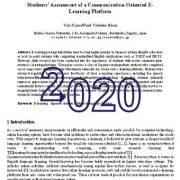 ارزیابی دانشجویان از یک پلت فرم یادگیری الکترونیکی ارتباطات محور
