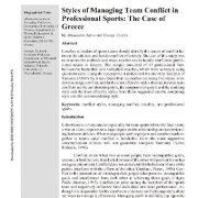 سبکهای مدیریت اختلاف و درگیری تیم در ورزشهای حرفهای