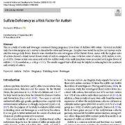 کمبود سولفات به عنوان فاکتور ریسک برای اوتیسم
