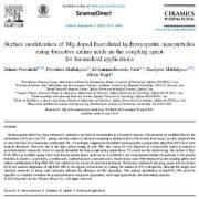 اصلاح سطحی نانوذرات هیدروکسی آپاتیت فلوئورید دوپ شده با منیزیم با استفاده از اسید آمینههای زیست فعال