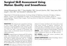 ارزیابی مهارت جراحی با استفاده از یکنواختی و کیفیت حرکت
