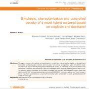 سنتز، شناسایی و سمیت  کنترل شده یک ماده ترکیبی(هیبریدی)