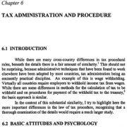 مدیریت و رویههای مالیات