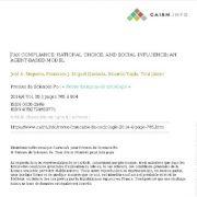 تمکین مالیاتی، انتخاب منطقی (انتخاب عقلانی) و نفوذ و تأثیر اجتماعی