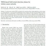 طرح تشخیص حمله سیبیل مبتنی بر TDOA برای شبکههای حسگربی سیم