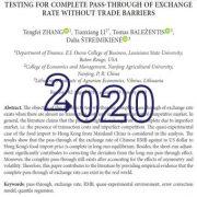 بررسی و آزمون اثر انتقال ارز بدون موانع خارجی