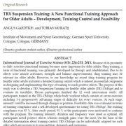 تمرین آویزی TRX: یک رویکرد تمرینی کارکردی جدید
