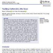 تدریس و آموزش ریاضی به صورت فوق برنامه