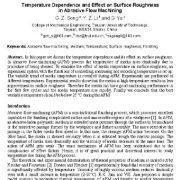 بررسی تأثیر درجه حرارت بر زبری و ناهمواری سطح در ماشین کاری