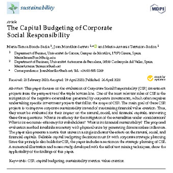 بودجه بندی سرمایه ای مسئولیت پذیری اجتماعی شرکتی