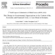 تغییر سازمانهای دولتی در زمینه بحرانهای مالی و اقتصادی
