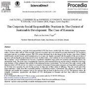 عملیات مسئولیت پذیری اجتماعی شرکتی در زمینه توسعه پایدار