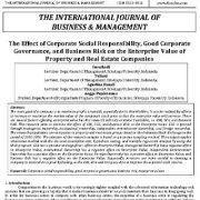 تأثیر مسئولیت اجتماعی شرکتها، حاکمیت شرکتی خوب