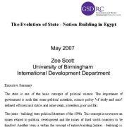 روند تکامل دولت – ملت  سازی  در مصر