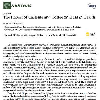 تاثیر کافئین و قهوه بر سلامت انسان