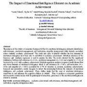 تأثیر عنصر هوش هیجانی بر پیشرفت تحصیلی