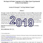 تأثیر کمپینهای رسانهای روی تشکیل پروندههای مالیاتی: شواهد شبه تجربی