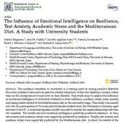 تأثیر هوش هیجانی بر مقاومت ، اضطراب امتحان ، استرس دانشگاهی و رژیم غذایی مدیترانه ای