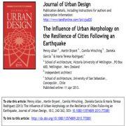 تأثیر مورفولوژی شهری روی تاب آوری شهرها پس از زلزله