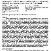 "<span itemprop=""name"">تلفیق گیاهان دارویی و گیاهان آشپزی در سیستمهای اگروفارستری برای حوزه مناطق کاراییب</span>"