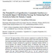 پتانسیل استفاده از باغچه های جوامع اگروفارستری به عنوان راهبرد پایدار