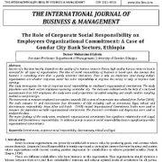 نقش مسئولیت اجتماعی شرکتها بر تعهد سازمانی کارکنان: یک مورد از بخشهای بانک