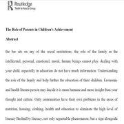 نقش خانواده در پیشرفت تحصیلی کودکان