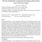 نقش بادشکن ها در توسعه و رشد پوشش گیاهی مناطق بیابانی