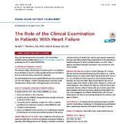 نقش معاینه بالینی در بیماران مبتلا به نارسایی قلبی