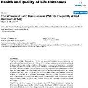 بررسی پیامدهای بهداشت و کیفیت زندگی: پرسشنامه بهداشت