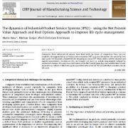 پویایی سیستم خدمات محصولات صنعتی (IPS2) روش ارزش فعلی